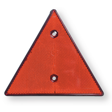 Catadioptre triangulaire, rouge